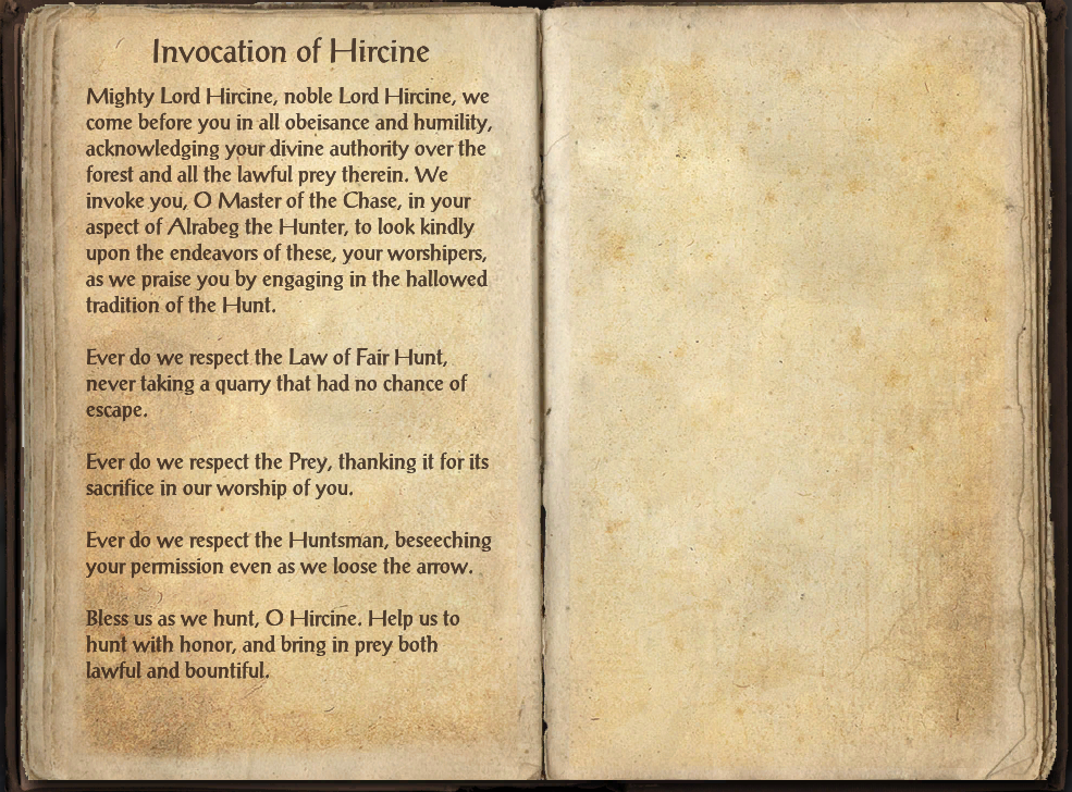 Invocation of Hircine
