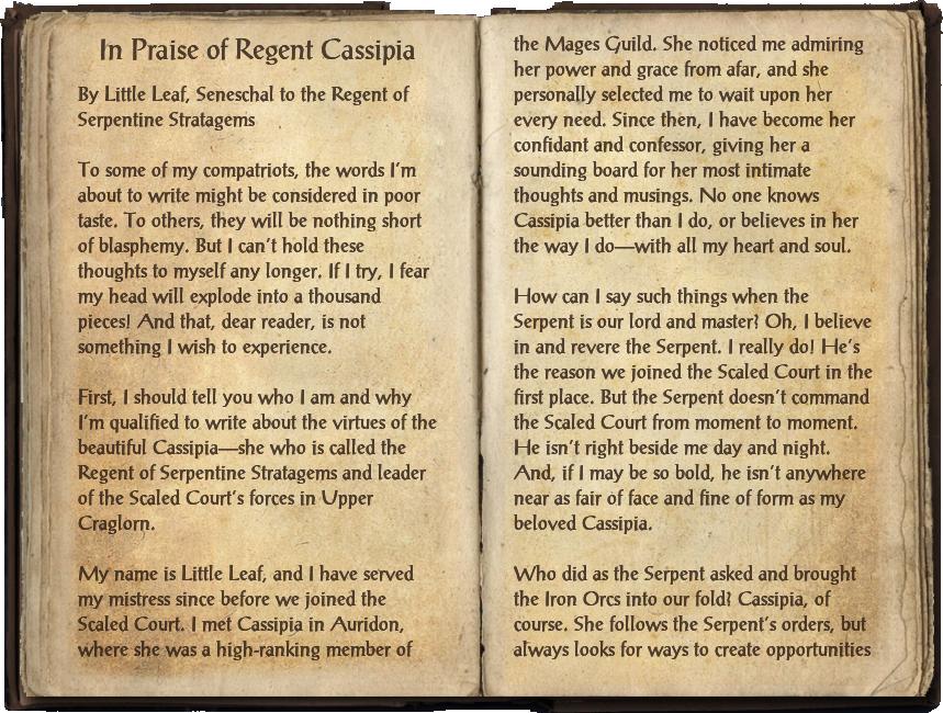 In Praise of Regent Cassipia