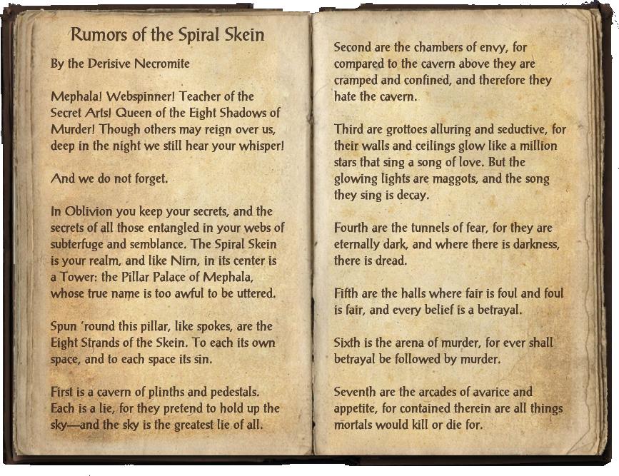 Rumors of the Spiral Skein