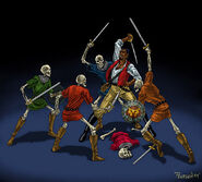 Cyrus vs Skeletons (Conceptart) by John Pearson