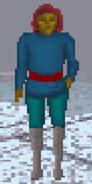 Mężczyzna z Wysp Summerset podczas zimy (Arena)