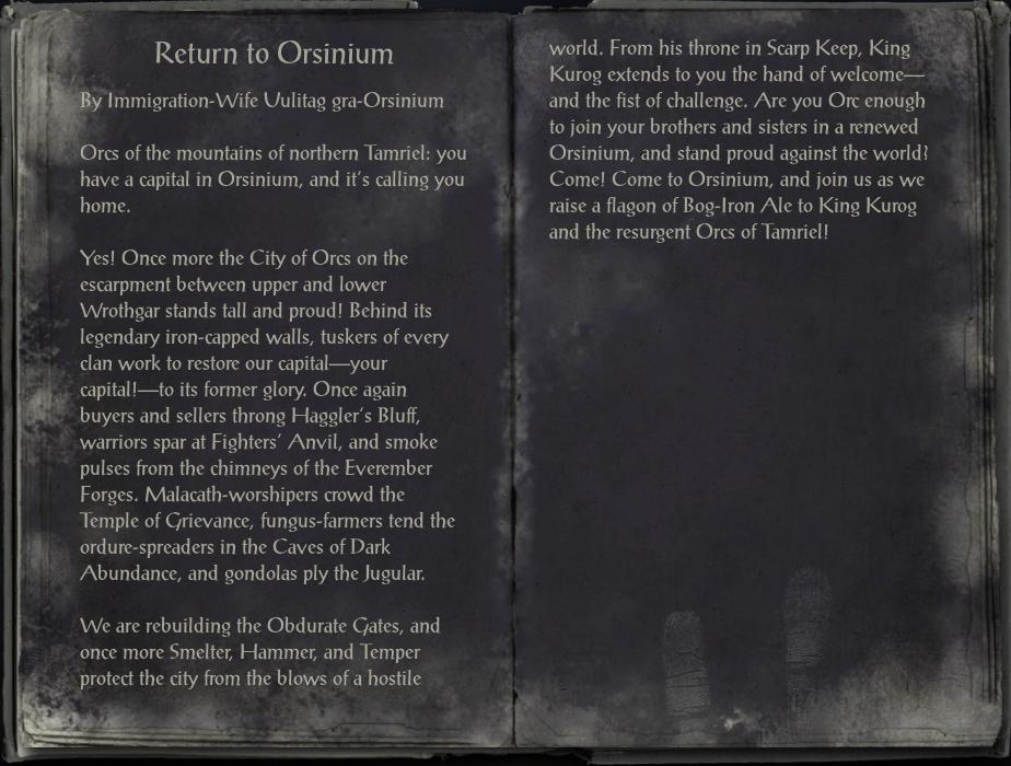 Return to Orsinium