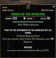 Vestments of the Warlock - Robes V1