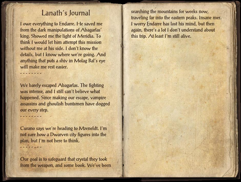 Lanath's Journal