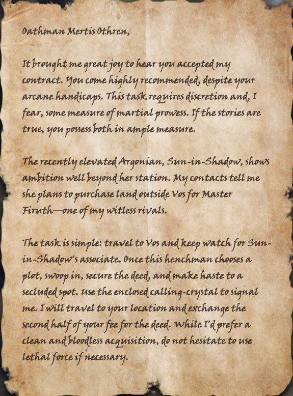 Letter to Mertis