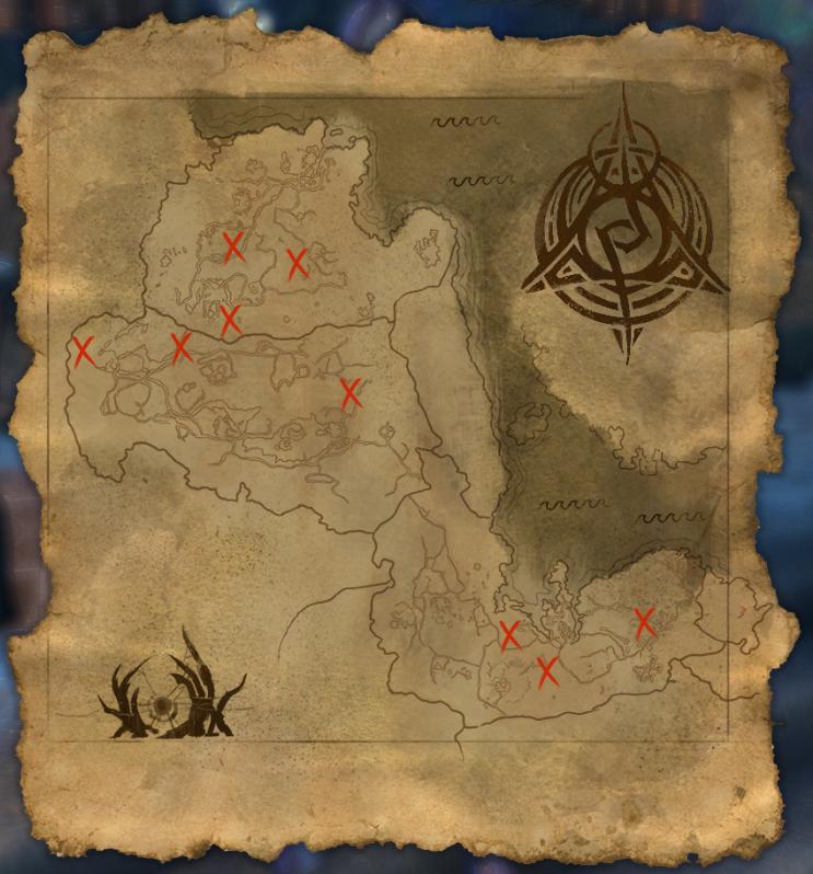 Psijic Map of Morrowind and Skyrim
