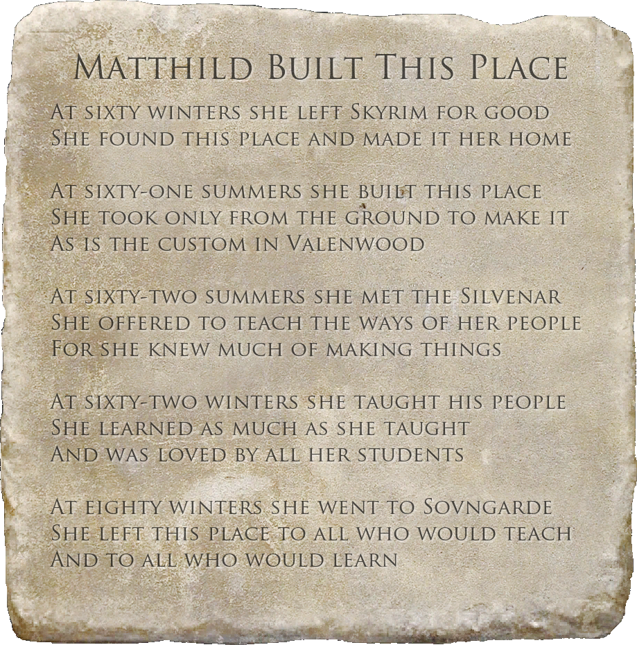 Matthild Built This Place