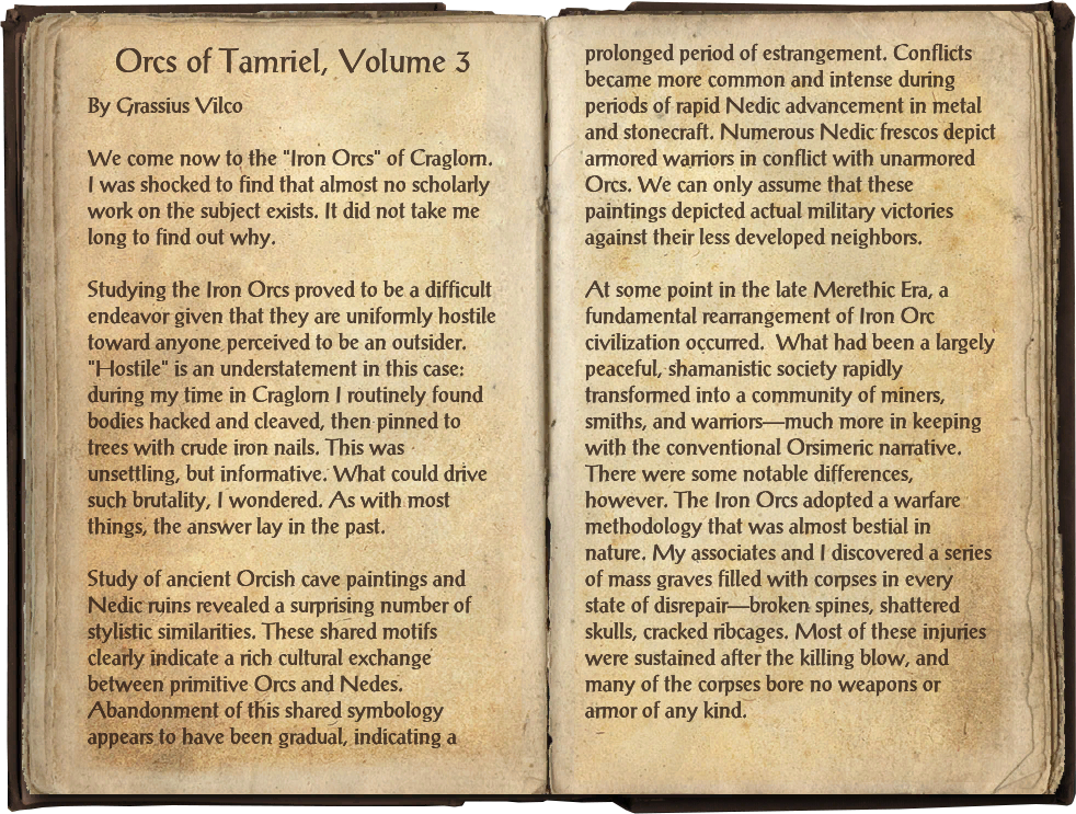 Orcs of Tamriel, Volume 3