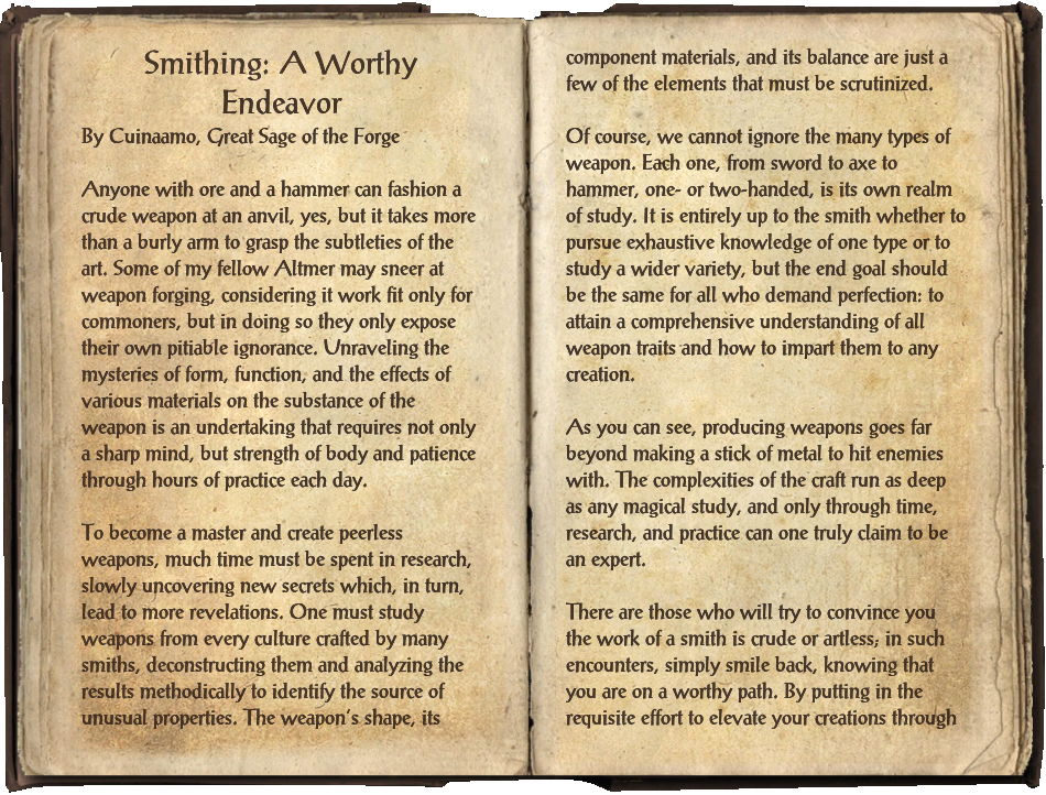 Smithing: A Worthy Endeavor