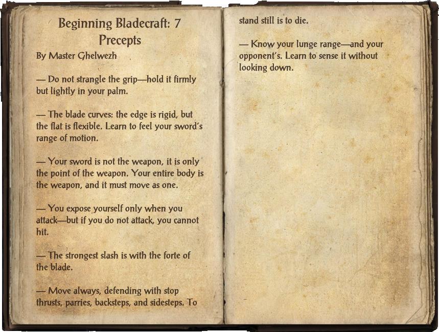 Beginning Bladecraft: 7 Precepts