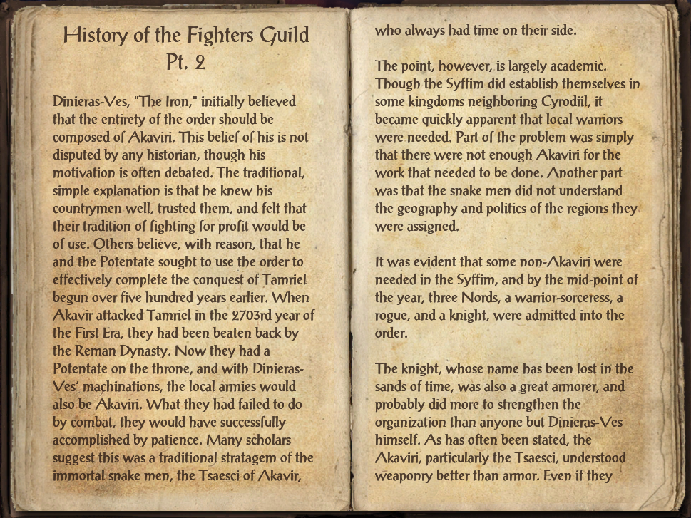 History of the Fighters Guild Pt. 2