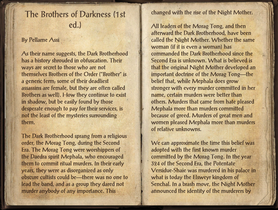 The Brothers of Darkness (1st ed.)