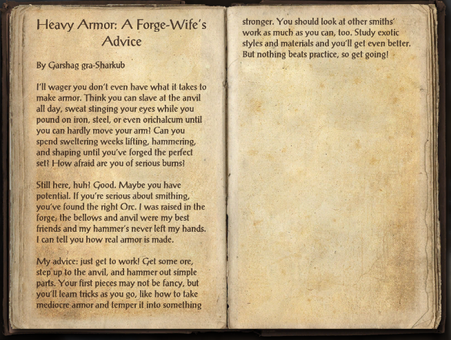 Heavy Armor: A Forge-Wife's Advice