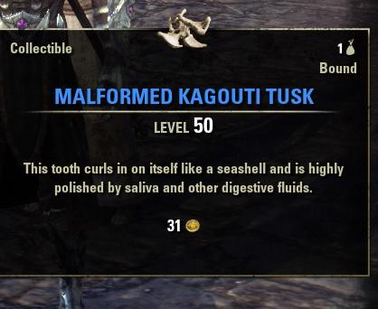 Malformed Kagouti Tusk