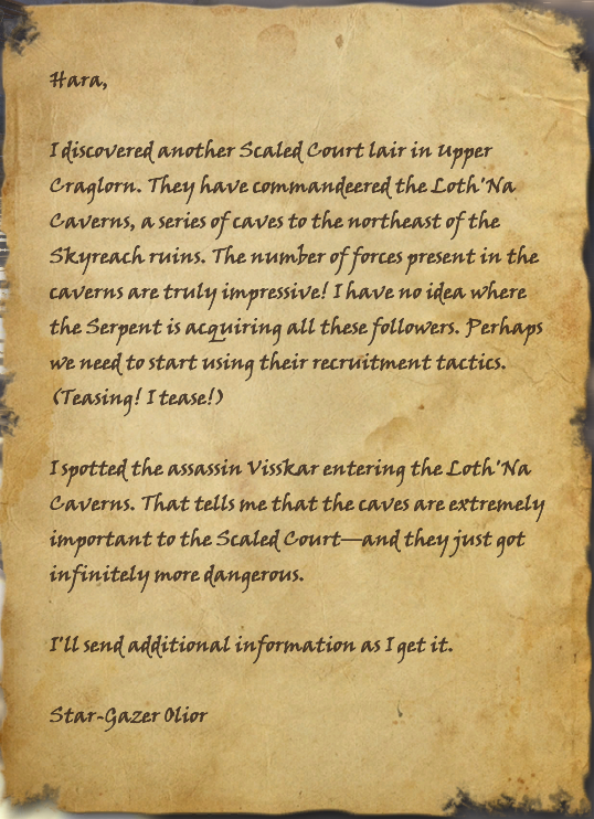 Intercepted Star-Gazer's Document