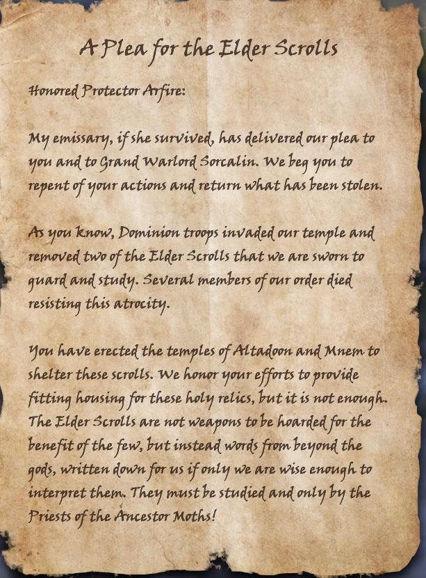 A Plea for the Elder Scrolls