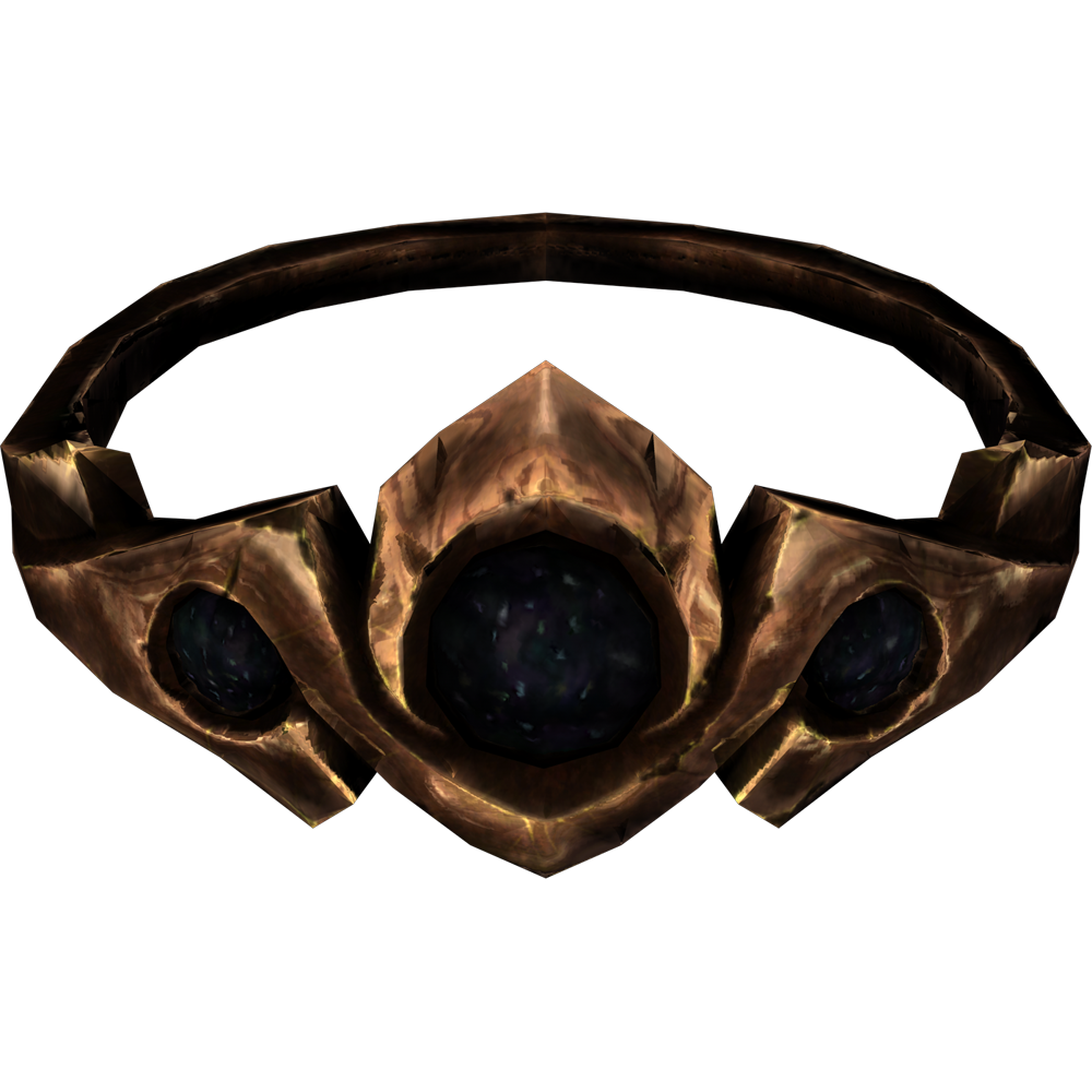 Copper and Onyx Circlet