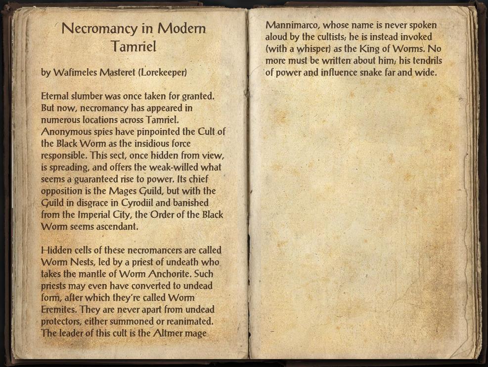 Necromancy in Modern Tamriel