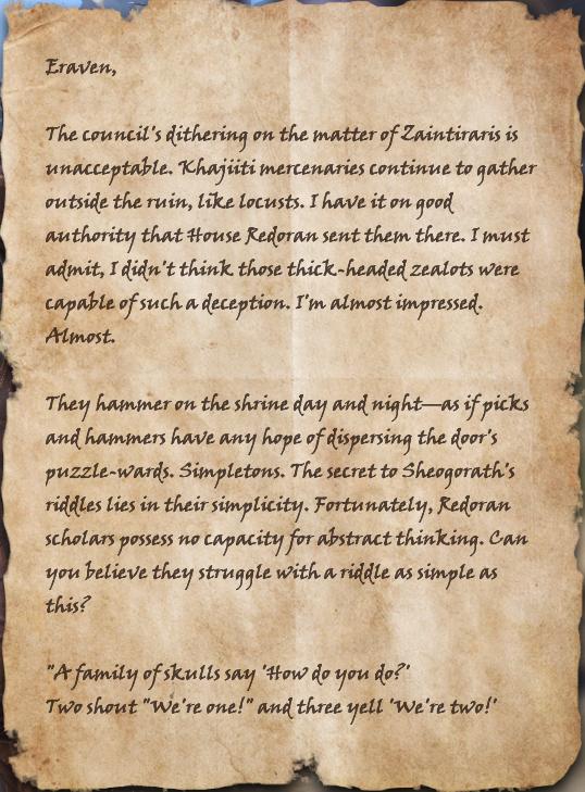Letter to Eraven