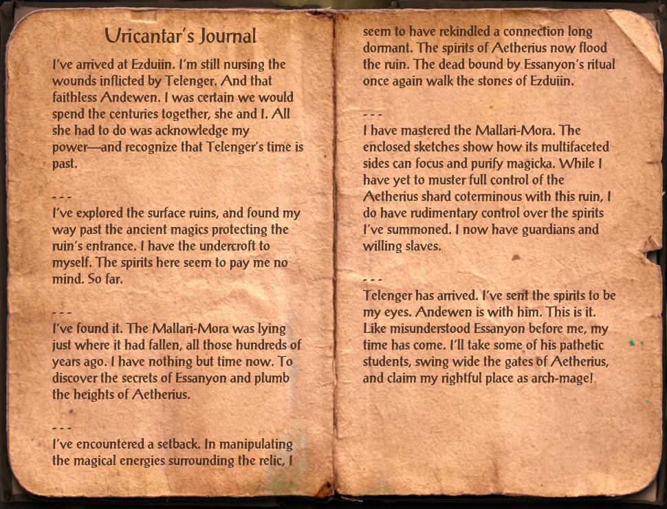 Uricantar's Journal