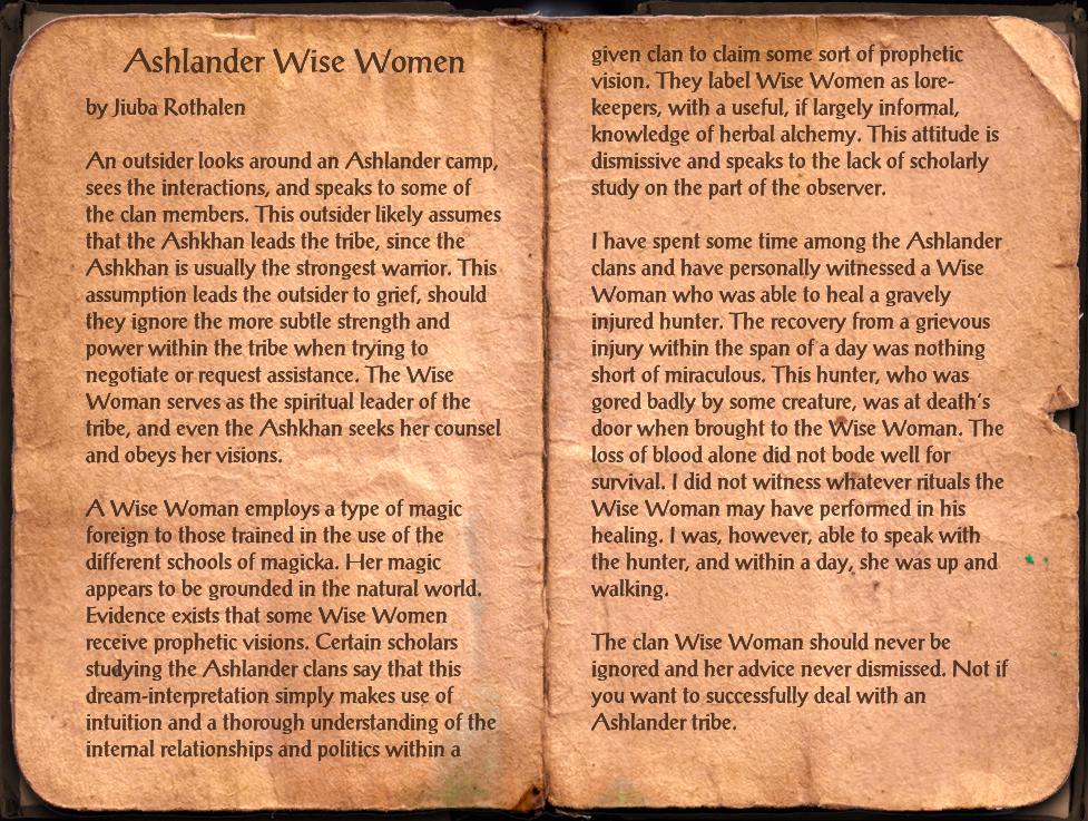 Ashlander Wise Women
