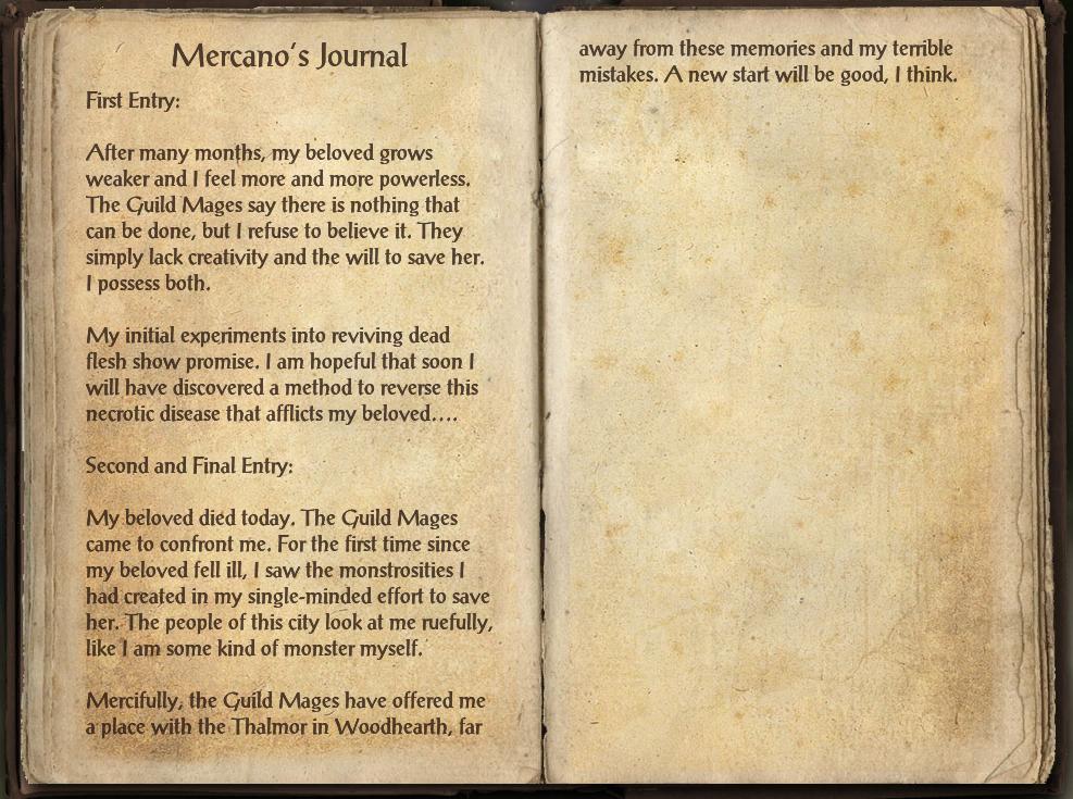 Mercano's Journal