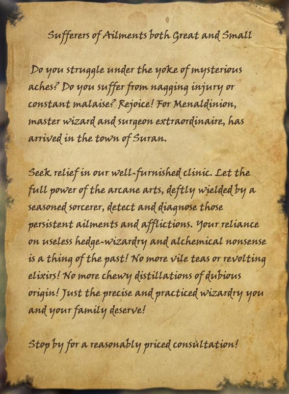 Menaldinion's Advert