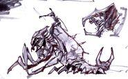 Falmer ujeżdzający Chaurusa 5 (Conceptart) by Adam Adamowicz