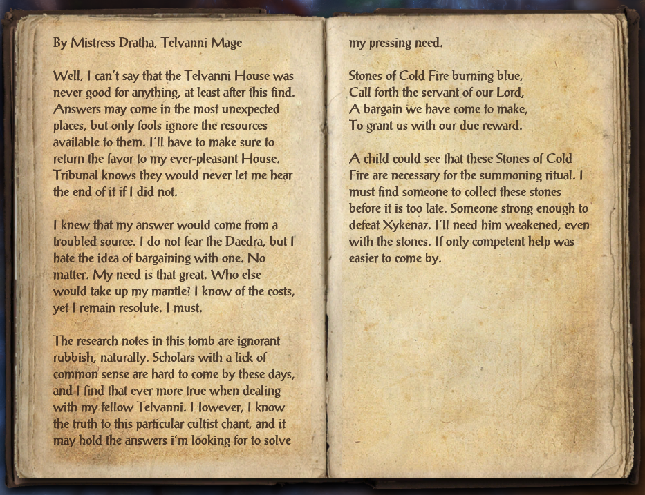 Mistress Dratha's Journal