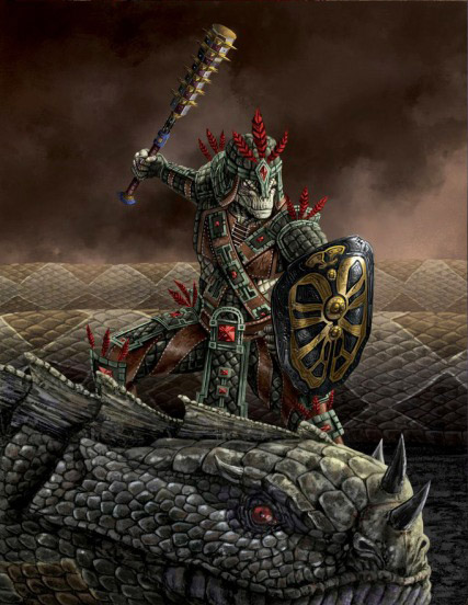 Arms and Armor of the Argonian Champion: Sees-All-Colors