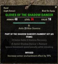 Shadow Dancers Raiment - Gloves 36
