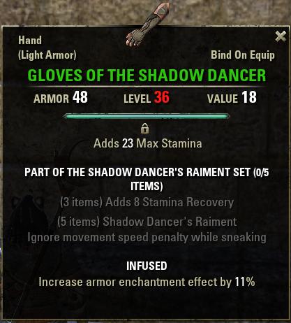 Shadow Dancer's Raiment