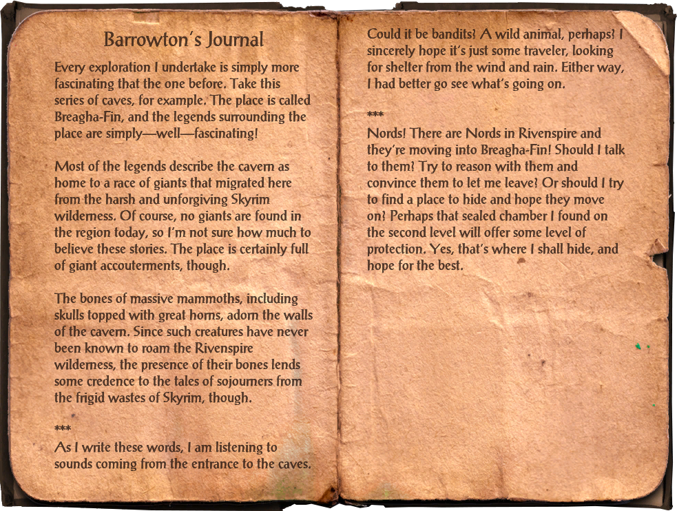Barrowton's Journal
