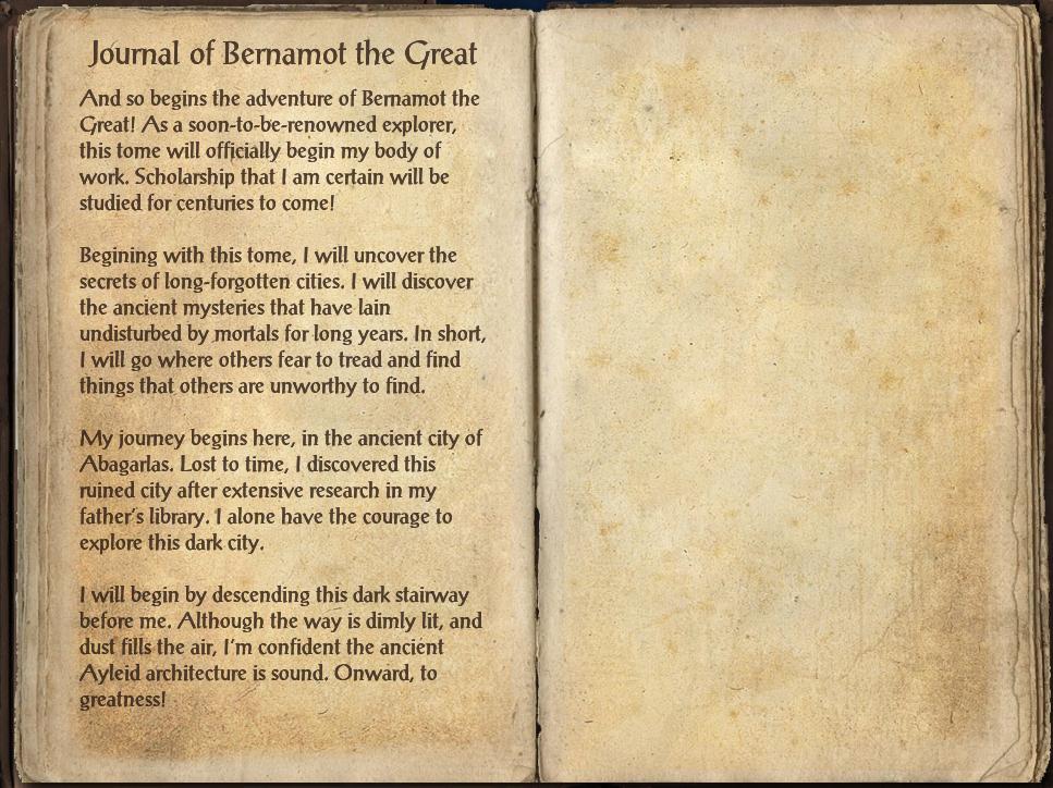 Journal of Bernamot the Great