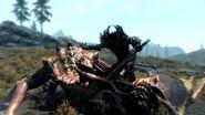 Dovahkiin zabijający Starożytnego smoka (Skyrim)