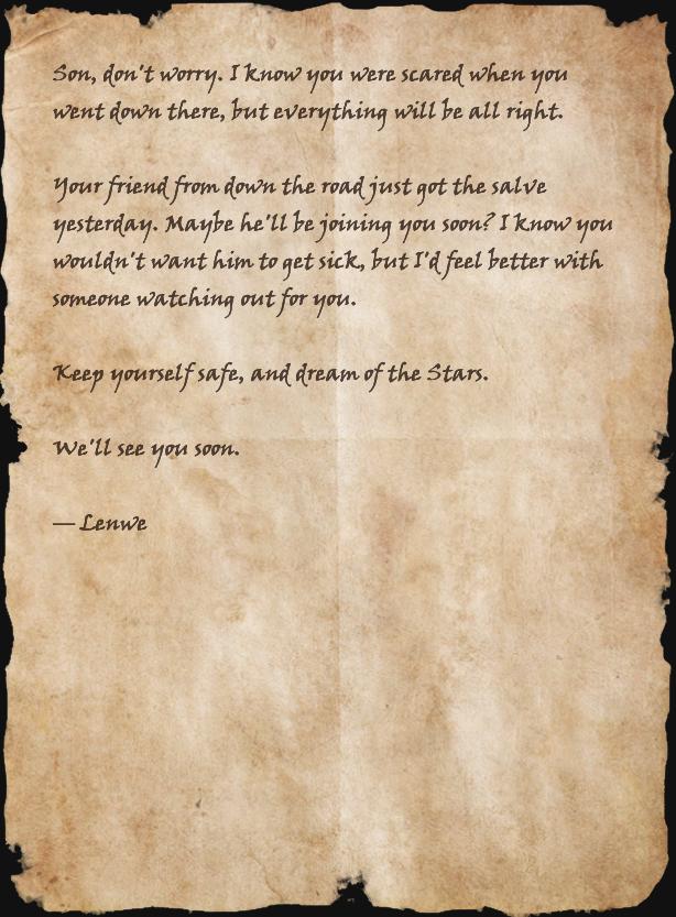 Letter from Lenwe