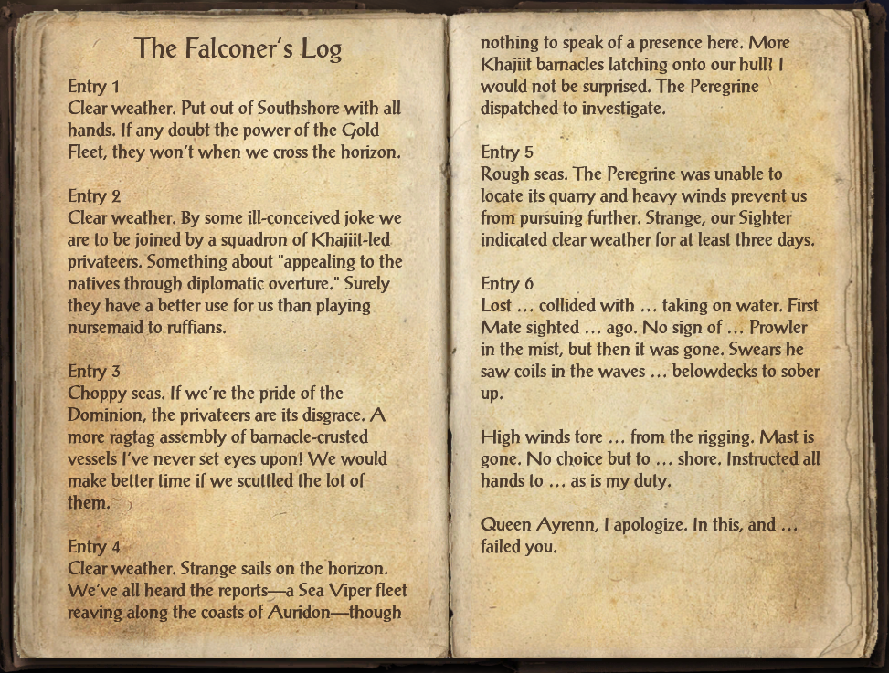 The Falconer's Log