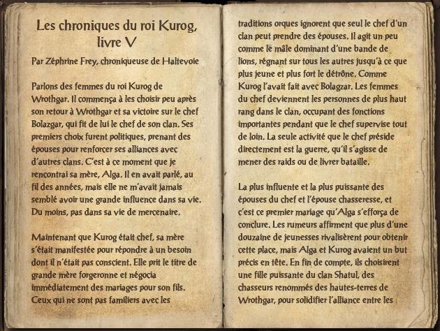 Les chroniques du roi Kurog, livre V