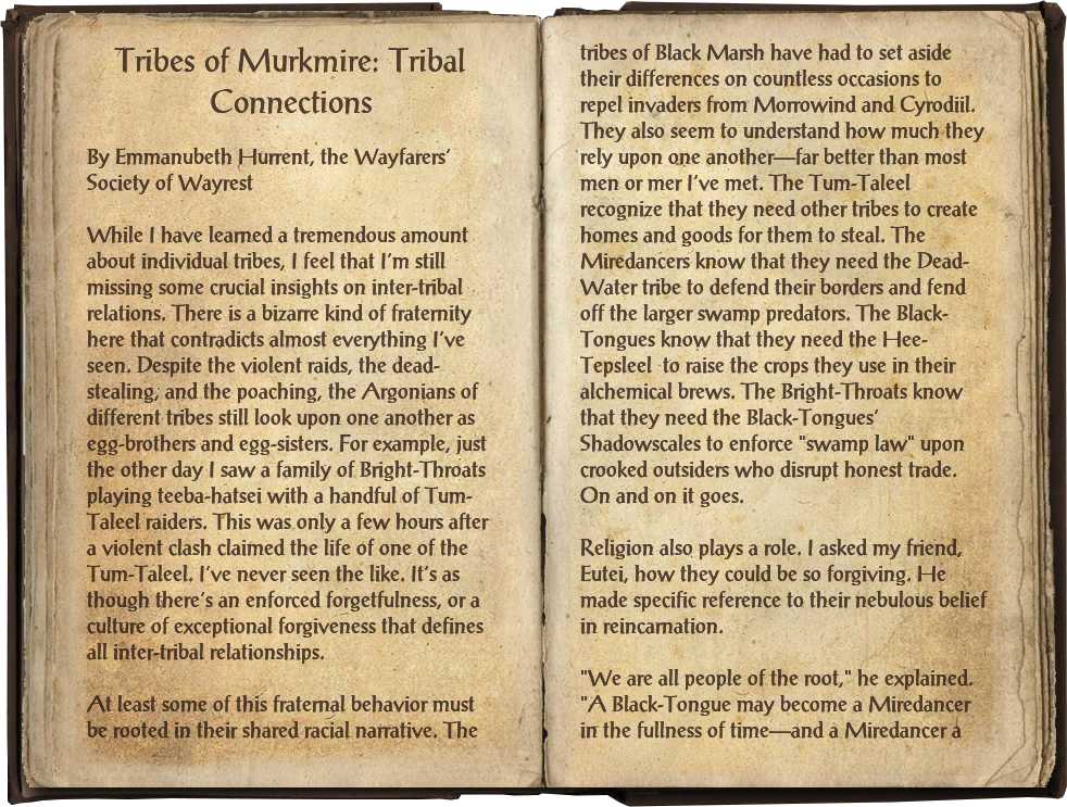 Tribes of Murkmire: Tribal Connections