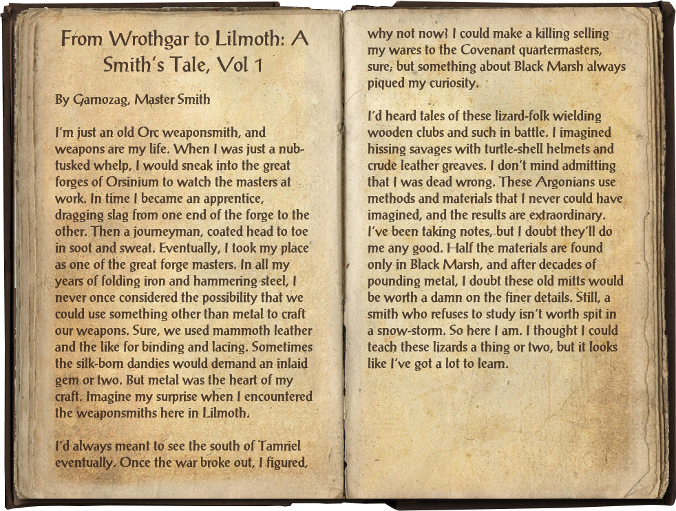 From Wrothgar to Lilmoth: A Smith's Tale, Vol 1