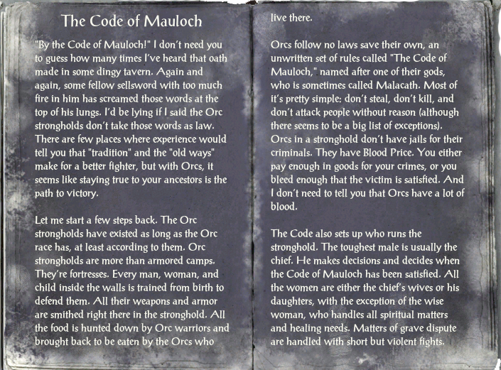 The Code of Mauloch