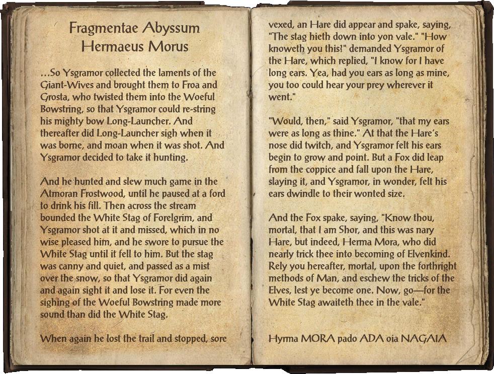 Fragmentae Abyssum Hermaeus Morus