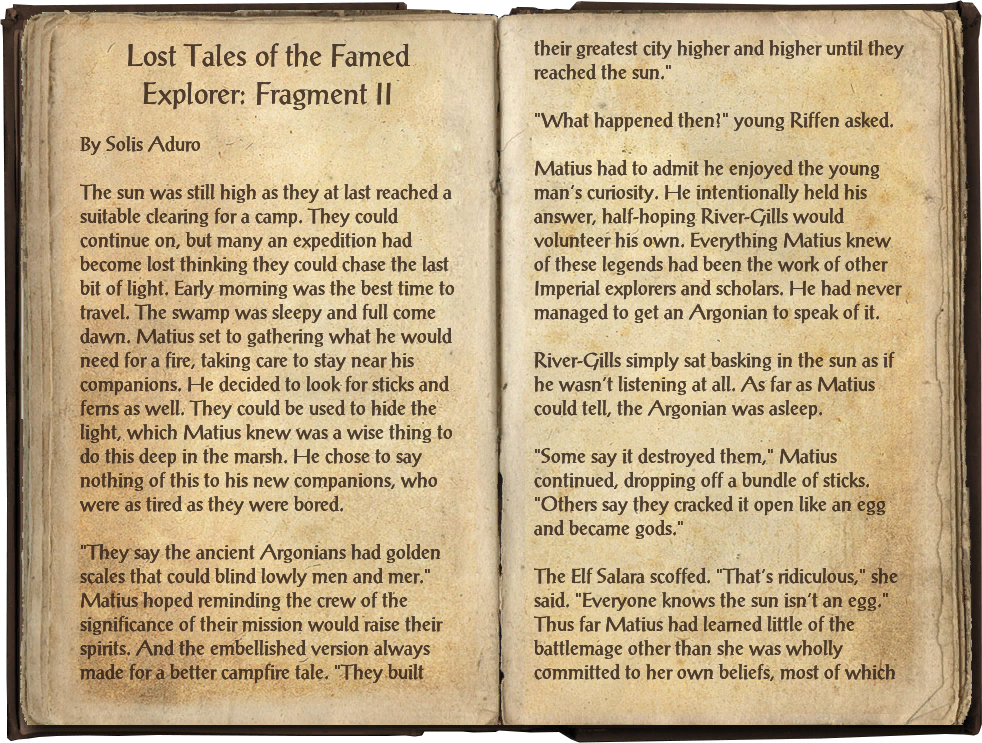 Lost Tales of the Famed Explorer: Fragment II