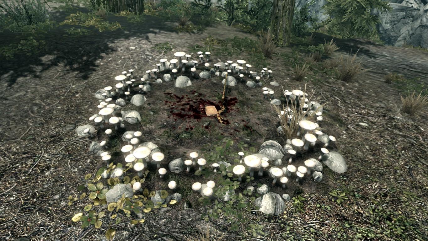Белый грибной круг