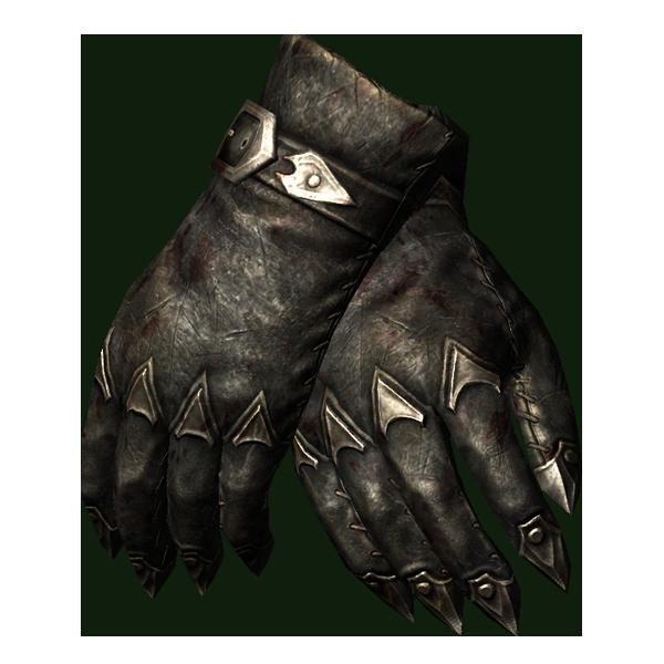 Вампирские окованные перчатки