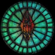 Witraż symbolu Talosa (Oblivion)