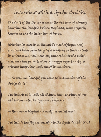 Interview with a Spider Cultist