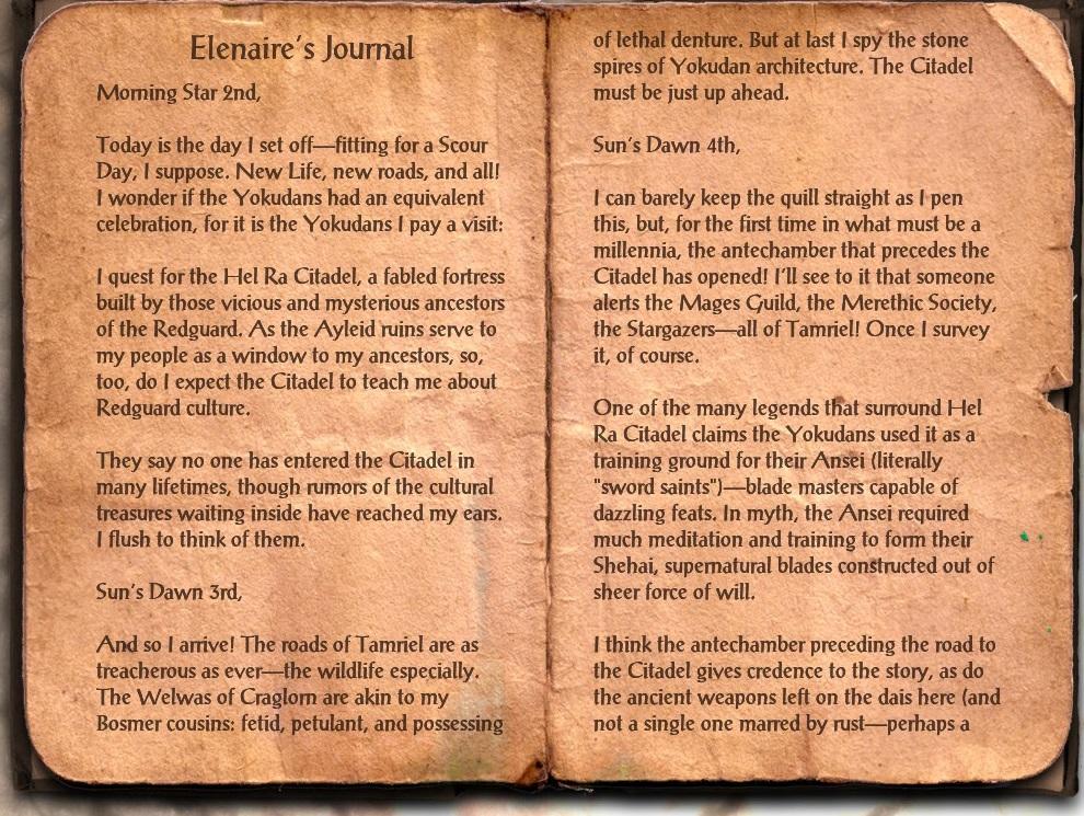 Elenaire's Journal