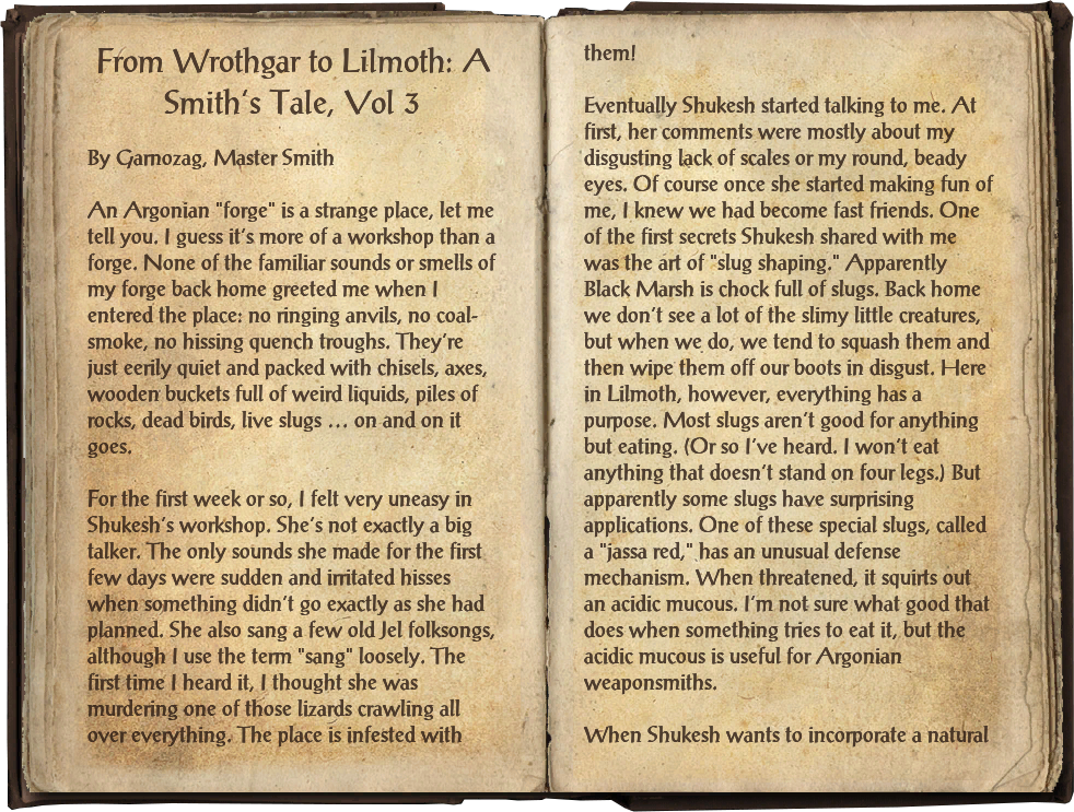 From Wrothgar to Lilmoth: A Smith's Tale, Vol 3