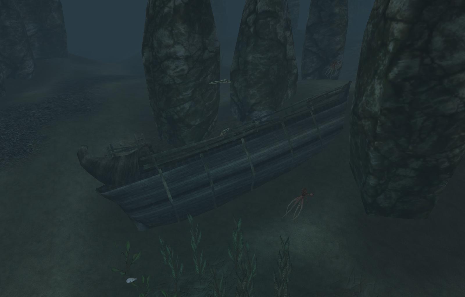 Выцветшие обломки корабля
